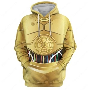 3D C 3PO All Over Print  Polyester Long Sleeve Headging Floral with Suit