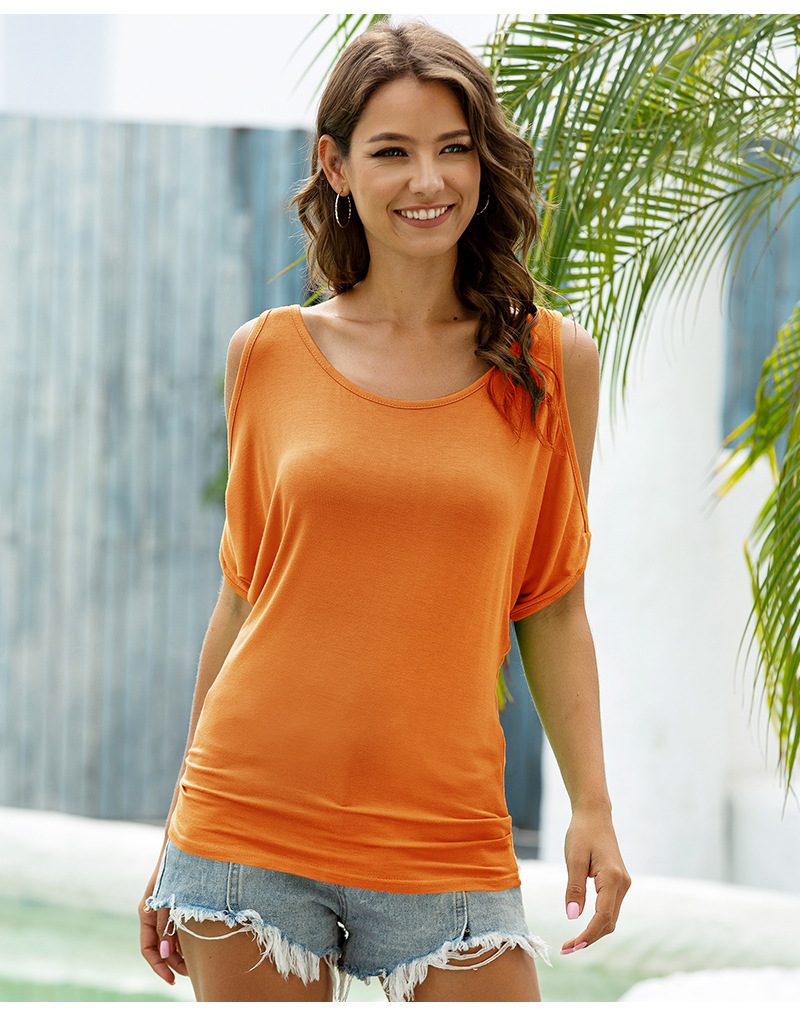 T-Shirt With Strapless Ladies Top