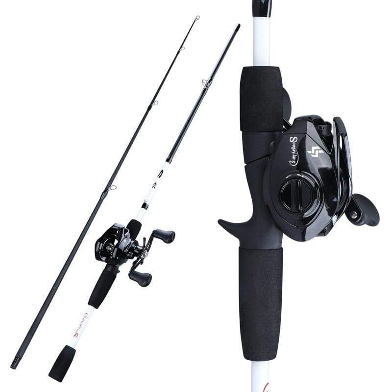 Fishing Rod Combos 2 Pieces  M Power Travel Fishing Rod Pole with 12+1BB Baitcasting Fishing Reels