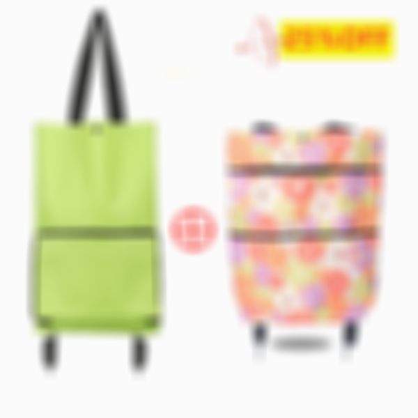 2 In 1 Portable Foldable Shopping Cart