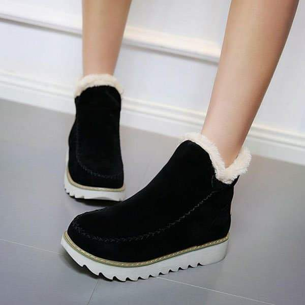 Upawear  Fur Lining Ankle Snow Boots