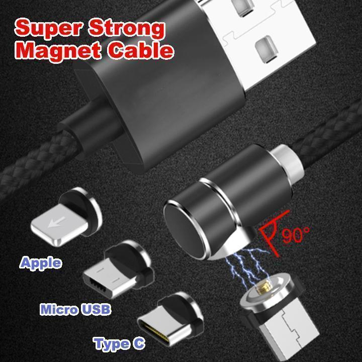 360° Magnetic Charging Cable(Include 3 converter heads)