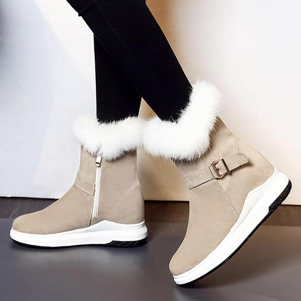 Bonnieshoes Women Fur Winter Snow Boots
