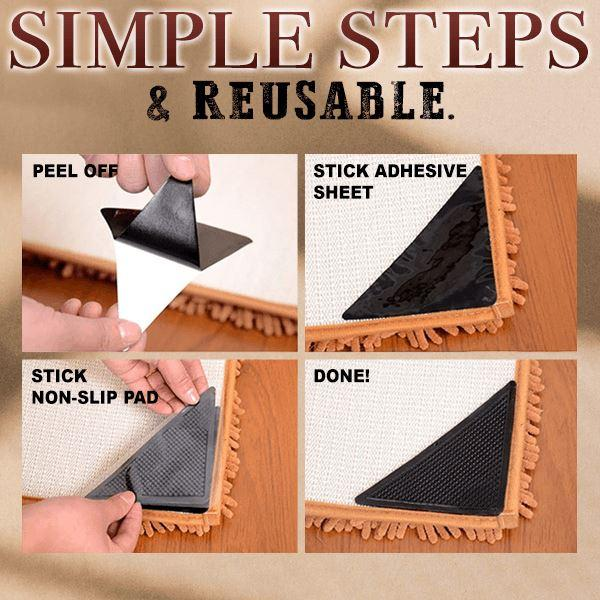 Non-slip Rug Grippers (Set of 4)
