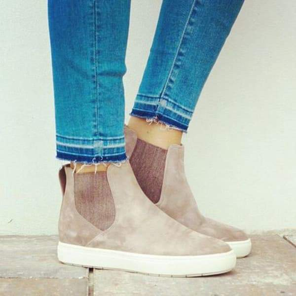 Zoeyootd Casual High Top Suede Sneakers