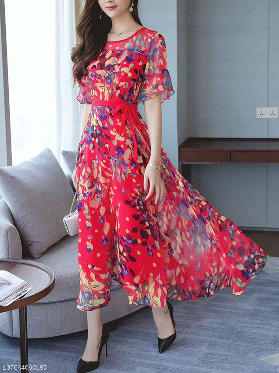 Floral Dresses 2020 Print Dresses Blue Floral Midi Dress Soprano Dresses Floral Pink Floral Chiffon Dress Floral Evening Dress