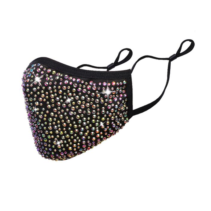 Double Layer Rhinestone Mask