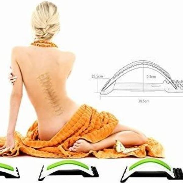 Lumbar Back Stretcher - Offers Support for Back & Spinal Decompression, Posture Correction , Yoga Fitness
