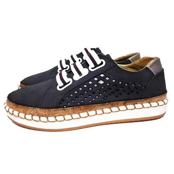 Hollow Out Round Toe Leisure Flats Shoes