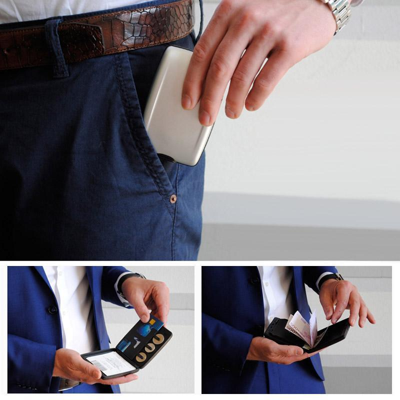 RFID Multi-functional Secure Cash and Cards Wallet