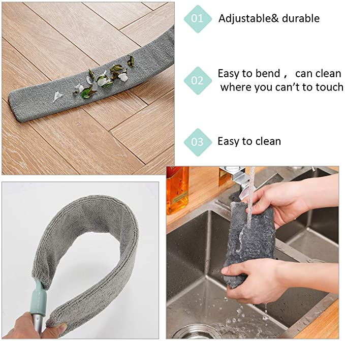 Dust Brush Long Handle Mop (Flexible from 39 to 55 inches)