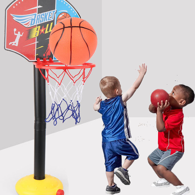 iBoyce Children's Basketball Hoop Adjustable Height indoor and outdoor Shooting Toys with Pump