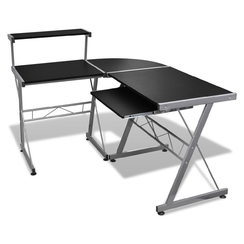 Buyonhome Computer Desk Workstation With Pull Out Keyboard Tray Black