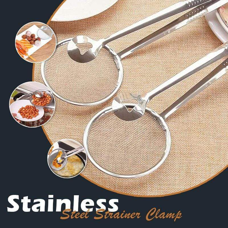 (50% OFF)Stainless Steel Strainer Clamp (Buy More Save More)