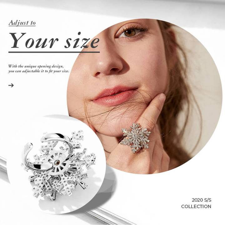 🔥50% OFF-Adjust To Your Size - Elegant Rotating Crystal Ring