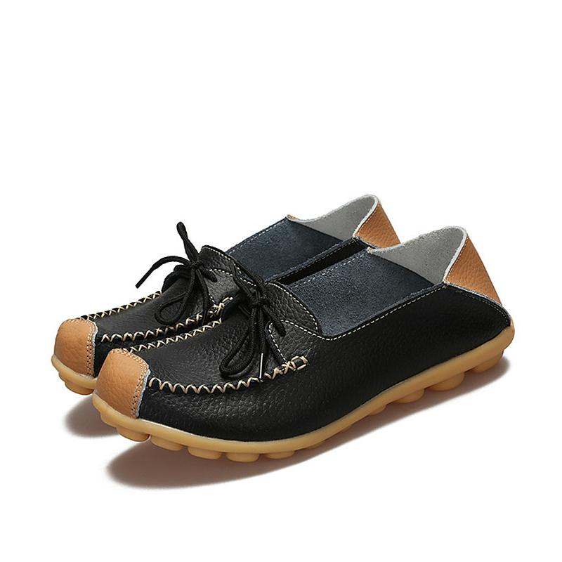 LISM Shoes Woman flat genvine leather