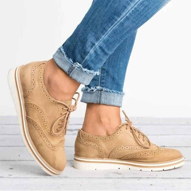 Woman Platform Oxfords Style Flats