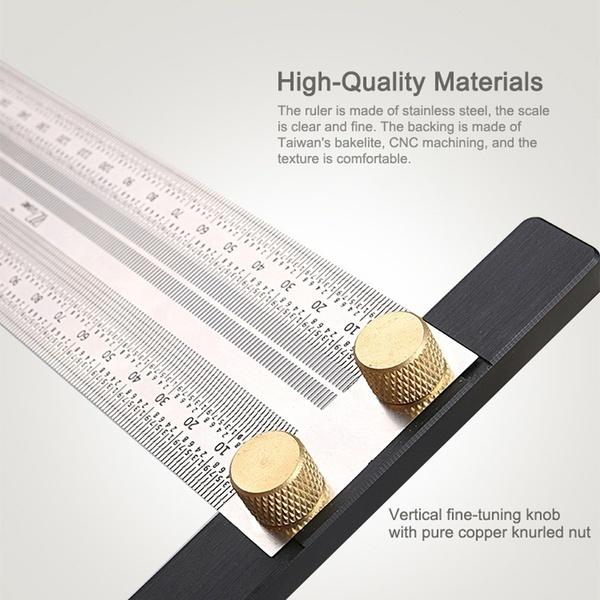 Ultra Precision Marking Ruler Scale Ruler T-type Hole Stainless Scribing
