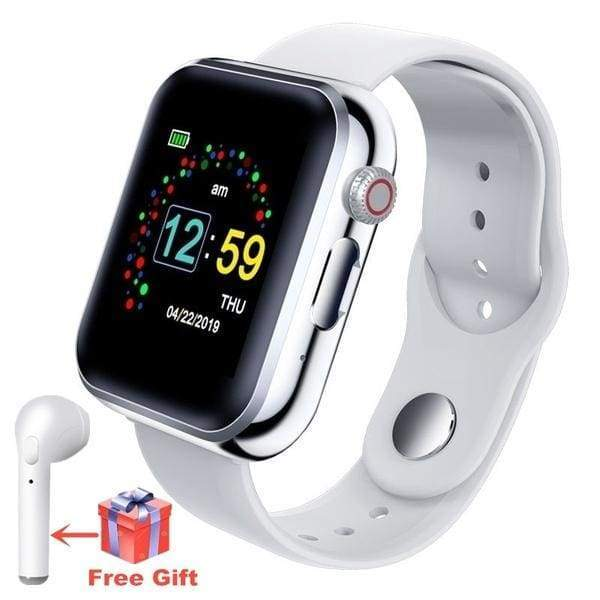 Fashion 1:1 5th Generation Bluetooth Smart Bluetooth Watch Zinc Alloy Body Smartwatch Call Touch Screen Smartwatch Support SIM TF Card Intelligent Fitness Tracker Heart Rate Monitor for Android IPhone IOS VS Apple Watch series 5 series 4 iwatch GT08 DZ09