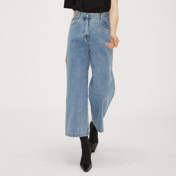 casual daily street wear stylish wide leg  casual daily wear long women jeans high quality-jeans 2.11