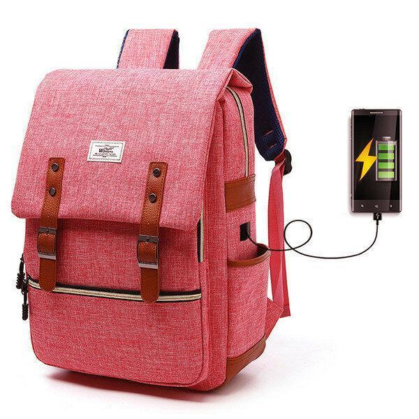 Backpack with USB Charging Port Lock Outdoor Backpack For Men And Women School Backpack Casual