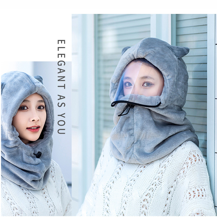 FF1909 one-piece hooded outdoor light plate cold-proof ear cap