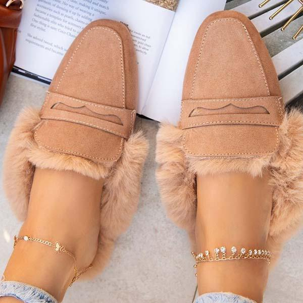 Mokoshoes Fur Warm Suede Comfortable Slippers