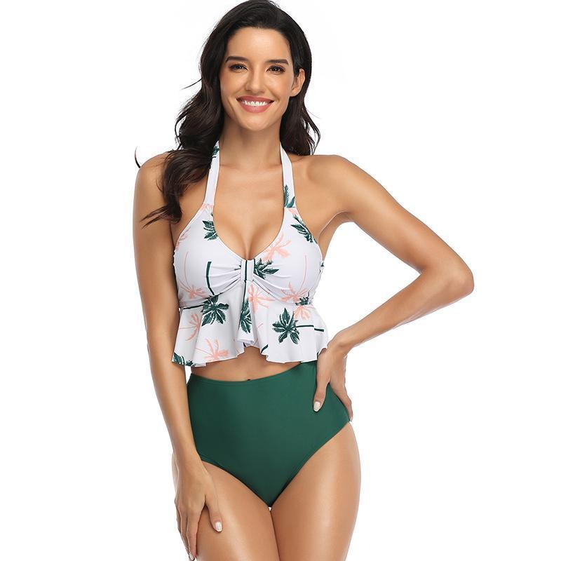 Leaves Edge Sexy Bikinis Two Piece Swimsuits