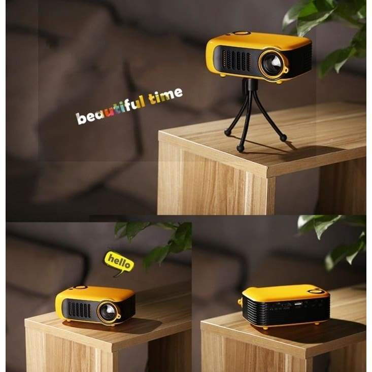 Portable 1080P HD Mini Projector Home Theater Movie Multimedia Video 2' LCD Support HDMI /USB /SD Card /Laptops