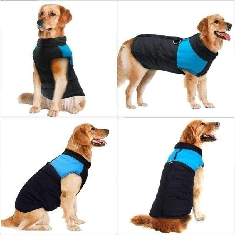 8 Colors Red Yellow Blue Pueple Fashion Pet Winter Super Warm Dog Clothes Puppy Medium Dog Big Dog Vest Snow Warm Cotton Jacket Pet Ski Clothing Waterproor Small Dog Thick Clothes S-5XL