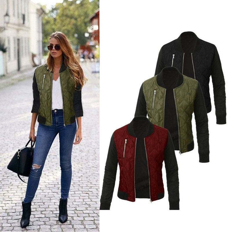 Quilted stitching women's jacket