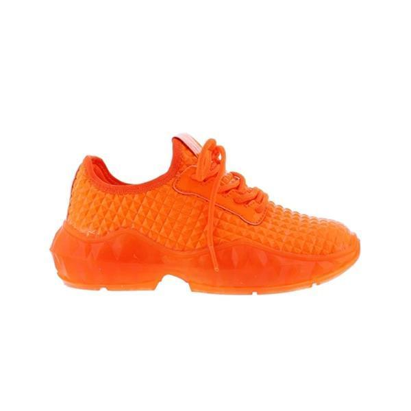 Mokoshoes Low-Cut Upper Round Toe Lace-Up Plain Cloth Sneakers