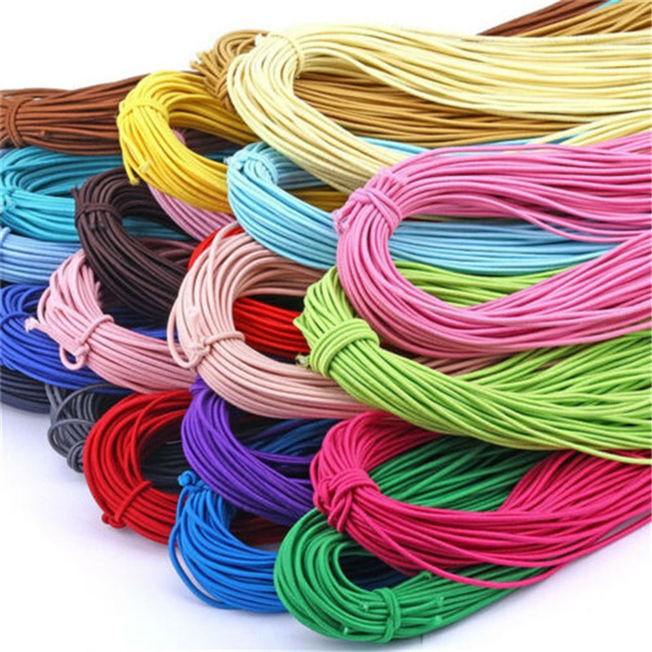 25M Rubber Cord Elastic Stretchy Many Colours Diameter 1MM