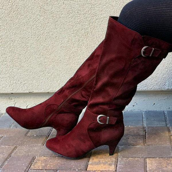 Bonnieshoes Women's Adjustable Knee High Boots