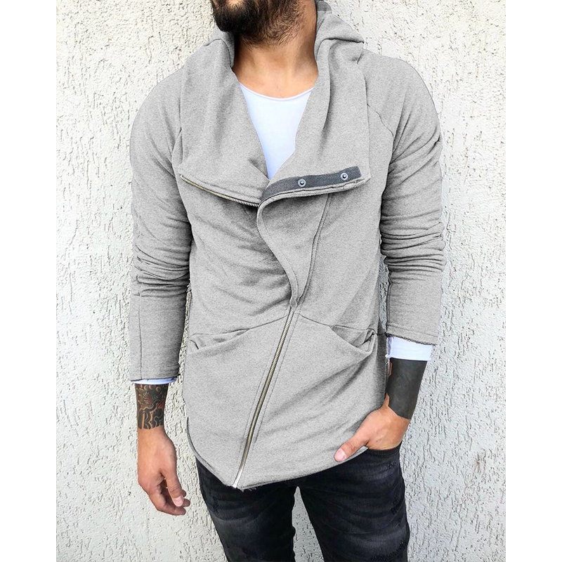 Trendy irregular men's jacket