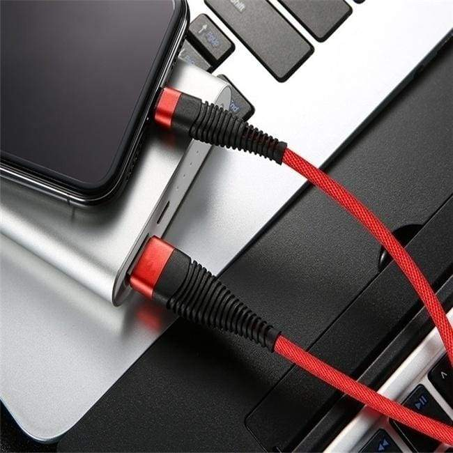 High Tensile Braid Phone Cable Unbreakable Fast Charing USB Data Cable for iPhone/5/6/7/8 iphoneX Samsung Android TypeC