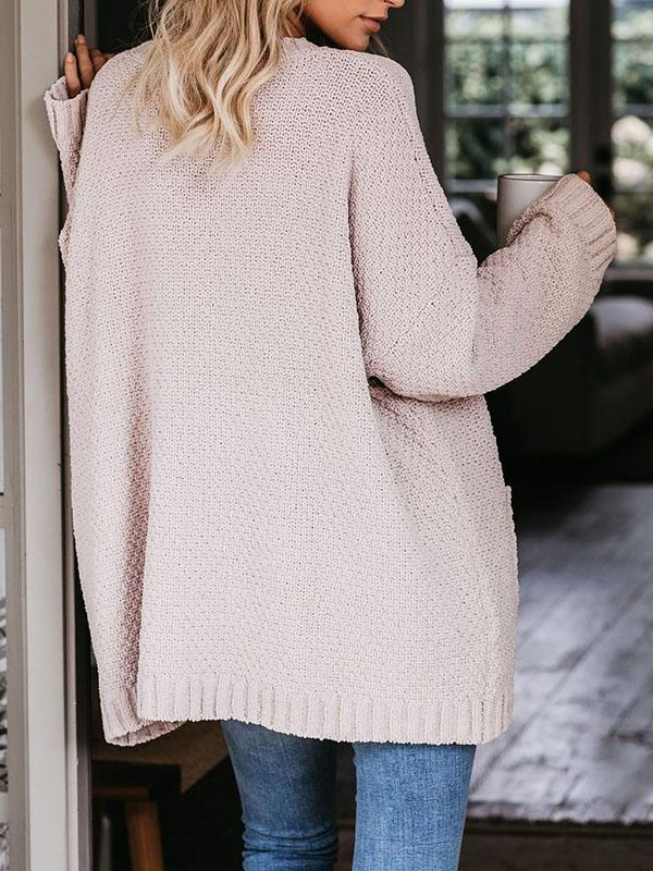 Bonnieshoes Casual Comfy Long Sleeve Loose  Knitting Sweater