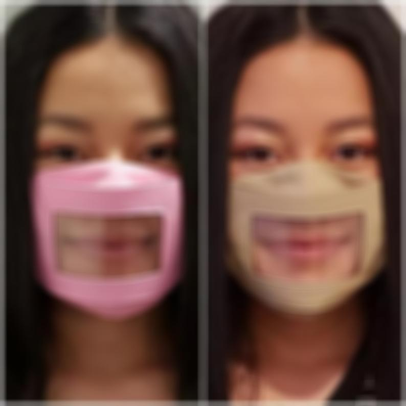 ANTI-FOG Adults/Kids Clear Mask ***Our Mask Will Not Fog Up When You Speak*** Adjustable Straps - Read Lips & Expressions