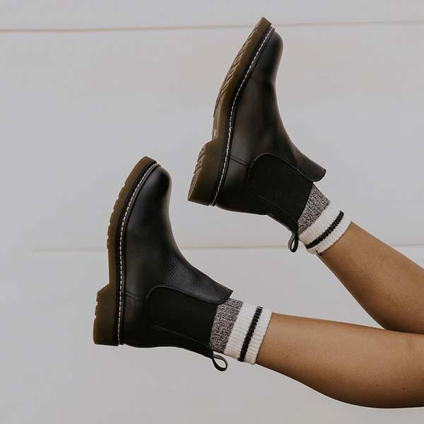 Upawear Artificial Leather Chelsea Boots
