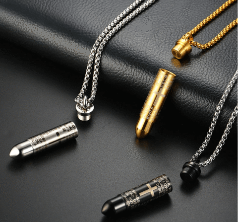 Religious Punk Bullet Necklace🙏Buy 2 Save $10 & Free Shipping🔥