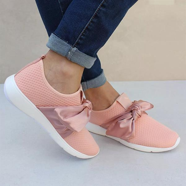 Mokoshoes Casual Comfy Bow Sneakers