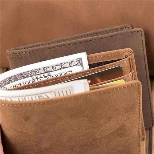 Dad To Son - Never Lose- Genuine Leather Wallet