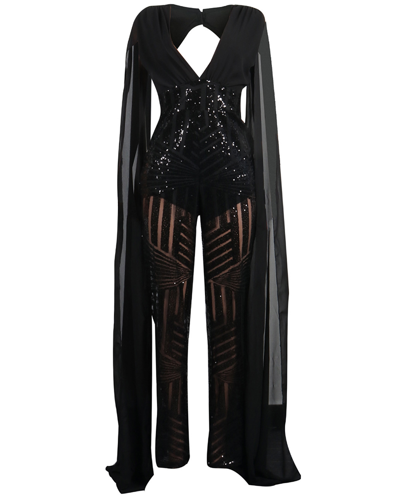 Fashion Sexy Sequin Jumpsuit