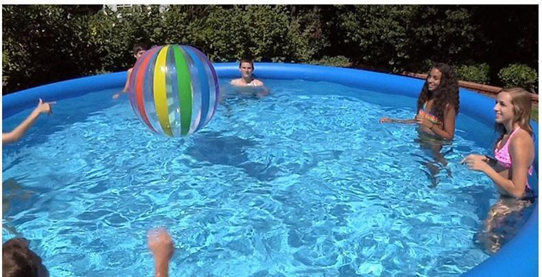 Hot Summer 12 ft x 36 in Easy Set Inflatable Above Ground Swimming Pools With Air Pump