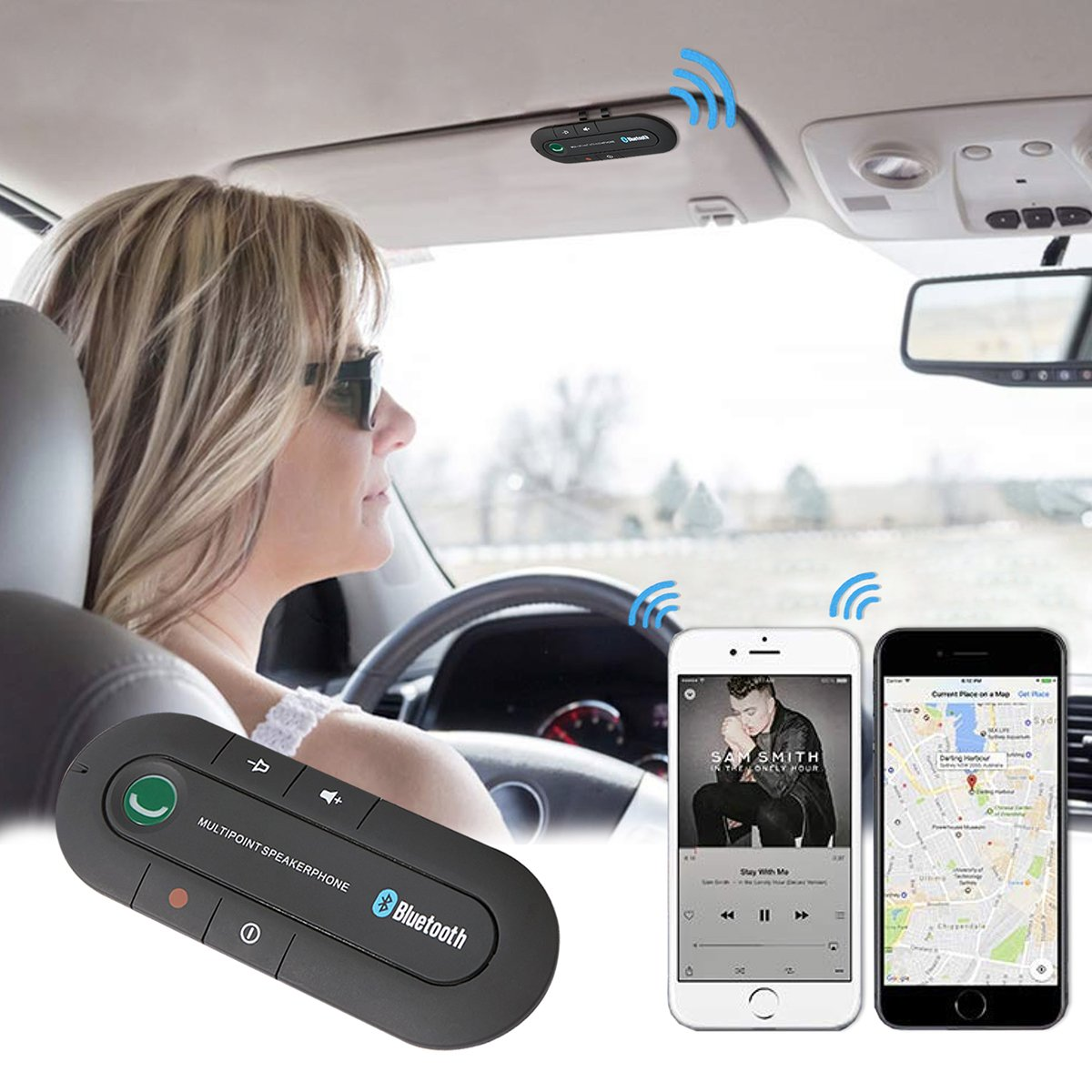 Bluetooth Hands-Free Car Visor Kit (Clearance)