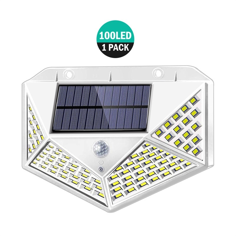 100 LED 1200LM Solar Power PIR Motion Sensor 3 Modes Wall Light Outdoor Yard Garden Lamp Waterproof