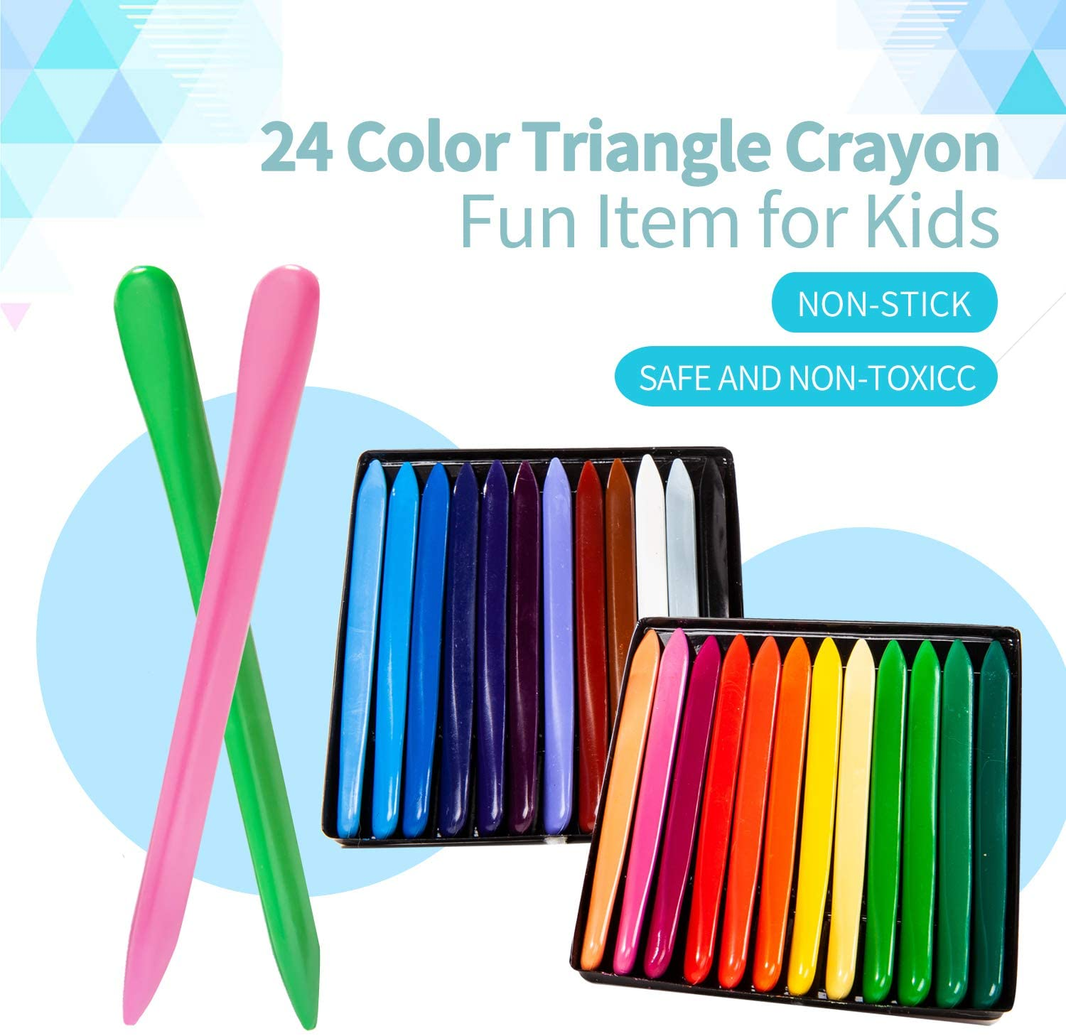 Kids Triangle Crayons