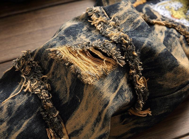 Make old ripped jeans