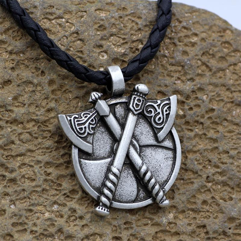 Double Axe Amulet Necklace