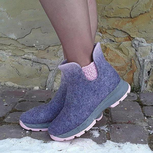 Bonnieshoes Winter Daily Slip-On Ankle Boots